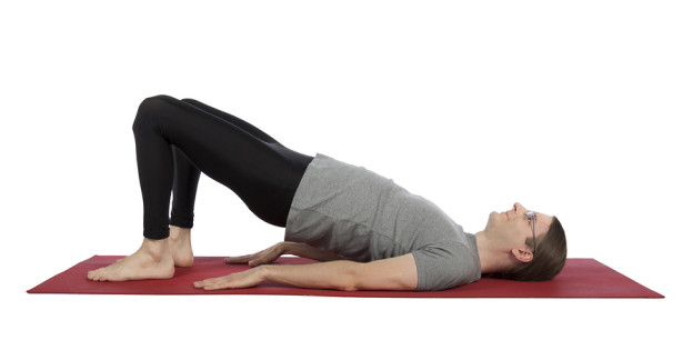 core muscles, back strength, back pain, low back ache, bridge pose, exercises for strengthening back