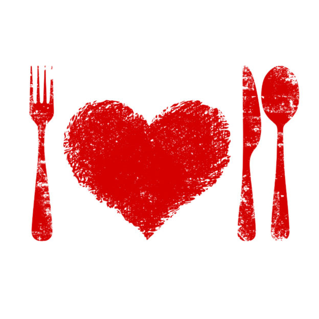 A heart health concept - red heart plate,